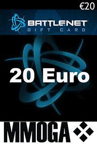 20 EURO Battle.net Gift Card Key Blizzard Battle Net €20 EUR ...