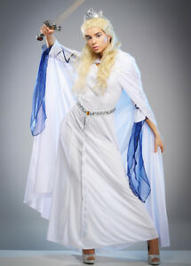 Image is loading Adult-Womens-Narnia-Style-The-White-Witch-Costume  sc 1 st  eBay & Adult Womens Narnia Style The White Witch Costume | eBay