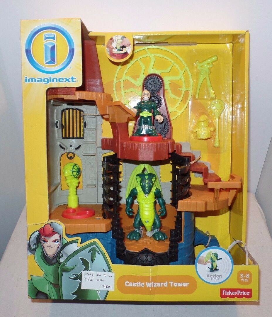 2013 Imaginext Castle Wizard Tower Action Action Action Tech Play Set NIB  Fisher Price 3-8 640a53