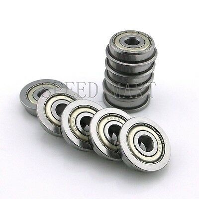10 x F626zz Mini Metal Double Shielded  Flanged  Ball Bearings (6mm*19mm*6mm)