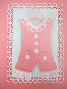 baby girl romper suit topper hand made for card making new baby
