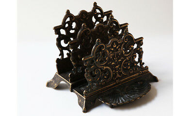 Gentle Portalettere Tavolo Bronzo Inizi '900 Antique Vintage Bronze Table Letter Holder Modern Design