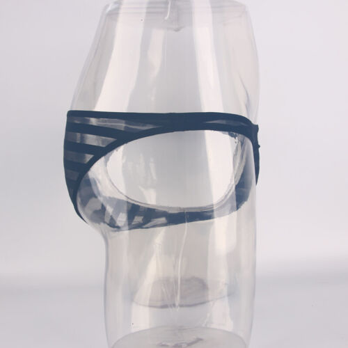 Mens Sheer Mesh Underwear Micro Bikini Thong Breathable Transparent Underwear