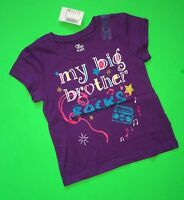 my Big Brother Rocks Baby Girls Graphic Little Sister Shirt 3t Gift Ss