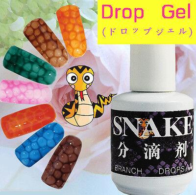 15ml Snake Skin Pattern Nail Art Manicure Water Bubble Effect Soak Off UV Gel