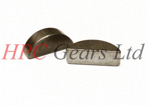 Metric Woodruff Keys Key 1.5mm 2mm 2.5mm 3mm 4mm 5mm Pack of 1 2 or 5 HPC Gears