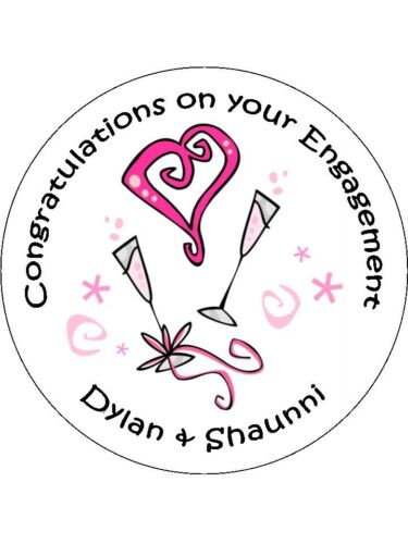 Engagement wedding labels congratulations Personalised Stickers party favour 11