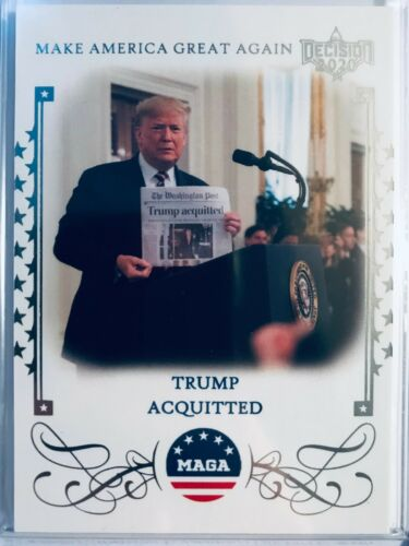 Decision 2020 Make America Great Again Trading Cards MAGA St Acquitted Johns