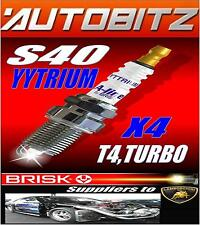 FITS VOLVO S40 2.0 TURBO BRISK SPARK PLUGS X4 100K GUARANTEE YYTRIUM