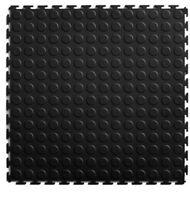 Multipurpose Black Floor Tile (8) Count 20.5 In X 20.5 In Coin Pvc Plastic
