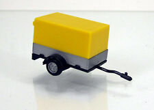 Herpa 051576-002  PKW-Anhänger mit offener Plane - signalgelb / sign yellow