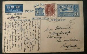 1941-MEF-Eritrea-India-Stationary-Postcard-Cover-To-Lancashire-England
