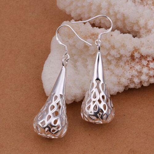 Fashion Silver Cute femmes PRETTY DROP Nouveau Femmes Boucle D/'oreille Bijoux Fête Cadeau E337