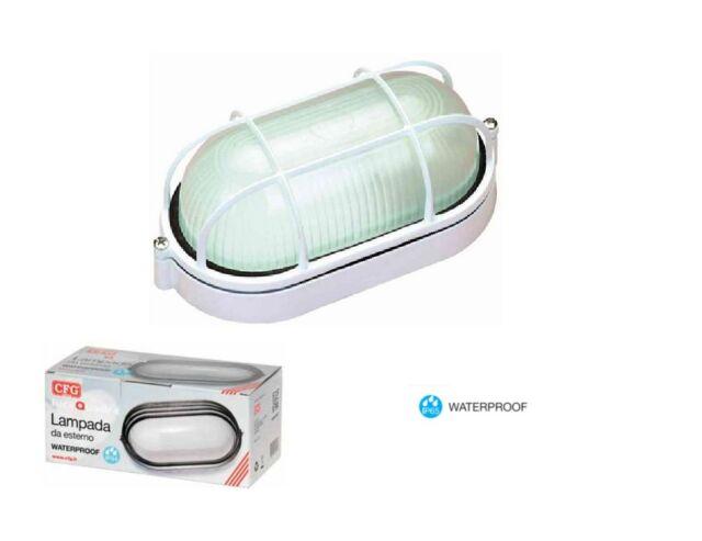 Plafoniere Da Palo Esterno : Cfg e plafoniera da esterno bianca waterproof ebay