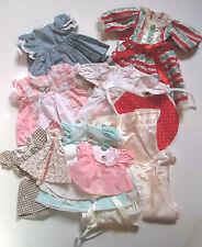 Vintage Hand Sewn Doll Clothes-12 Pces Cotton /Rayon Dresses Bonnets-1960's-70's