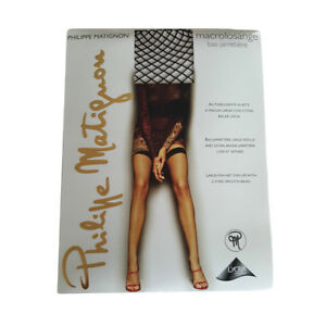 Stockings & Thigh-highs Philippe Matignon Autoreggenti Macrolosange Nero Delicious In Taste Clothing, Shoes & Accessories