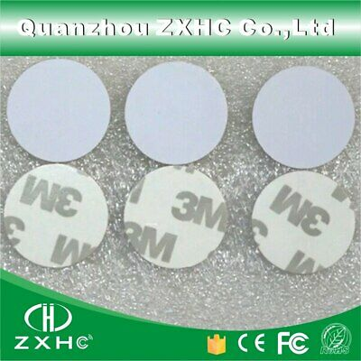 WE-WHLL 125khz Em4305 RFID 25mm Rewritable Coin with//without Adhensive Sticker