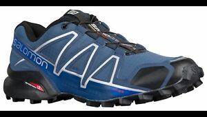 7832ad372dcc Salomon Men s Speedcross 4 Trail Hiking Shoes Slate Blue Black Blue ...