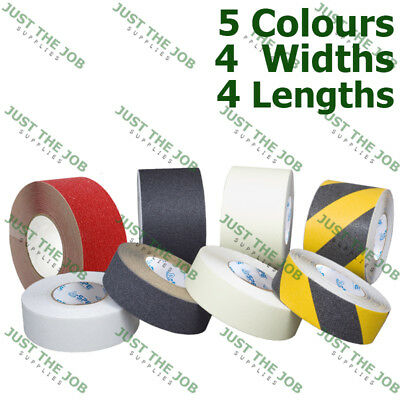 75mm x 1m Strip, Red Non-Slip Safety Strip Grip Tape ~ Adhesive Backed Floor Steps Anti Slip Tape ~ High Grip Safety Construction Site Supplies