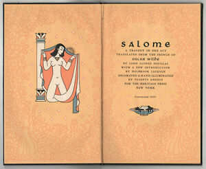 1945-SALOME-Oscar-Wilde-HERITAGE-PRESS-Valenti-Angelo-LORD-ALFRED-DOUGLAS
