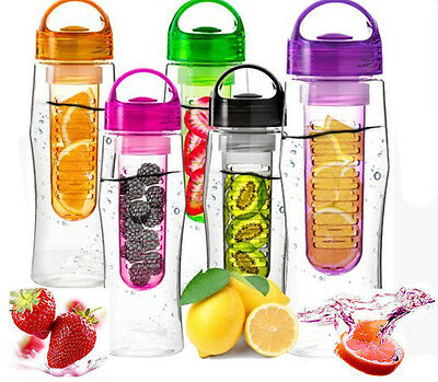 800ML Fruit Infusion Infusing Infuser Water SSHU Bottle Sports Health Maker NEW
