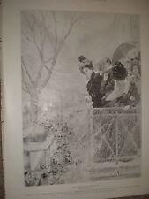 Mardi Gras in Paris by Oscar Wilson 1899 old print