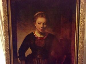 Rembrandt In Gilted Frame 28 34 X 34 34 School Young Woman At