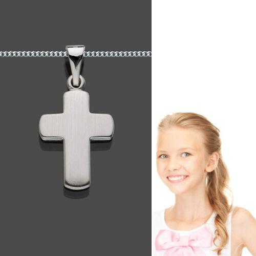 mit Silber 925 Kette Neu Baby Kinder Taufe Kommunion Kreuz Weiß Gold 585 14 Kt