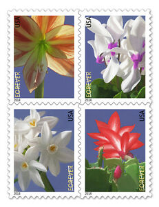 USPS-New-Winter-Flowers-Forever-Stamp-Booklet-of-20