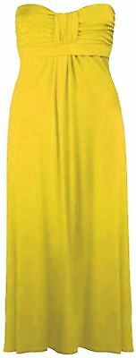New Ladies Plus Size Strapless Bandeau Boob Tube Knot Maxi Dress 8-26