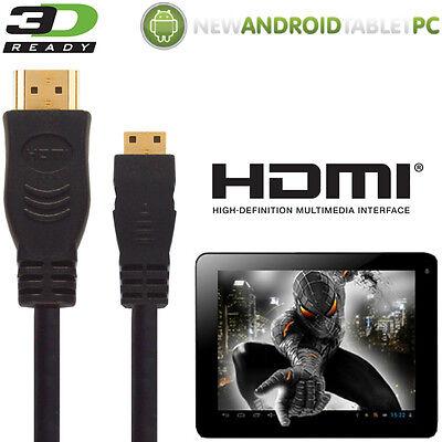 Laborioso Natpc M009s 7 Capacitivo, Superpad Tablet Hdmi Mini A Tv Piombo 5m Cavo Filo-mostra Il Titolo Originale Prestazioni Affidabili