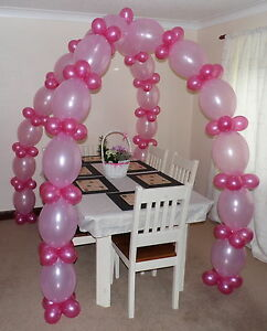 Image Is Loading LINK BALLOON ARCH FLOOR DECORATION HELIUM OR AIR