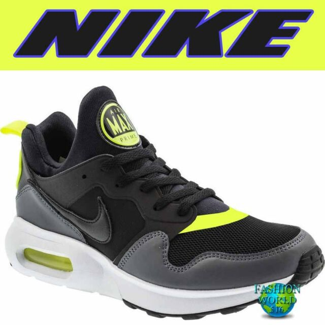outlet store 8dd71 b42ad Nike Men s Size 9 Air Max Prime Running Shoes Black Gray Volt White  876068-005
