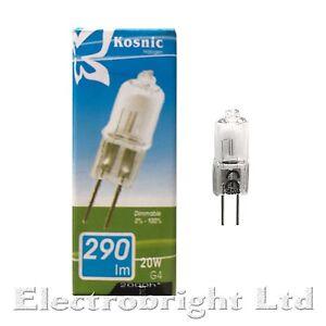 Light Bulbs G4 Base Lamps 50x 10W or 20W Halogen G4 12V Clear Capsule Dimmable Light Bulbs