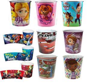 Kids-Bin-Disney-Children-Waste-Paper-Basket-Bedroom-Rubbish-Tidy-Room-New