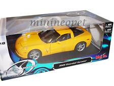 MAISTO 31117 2005 05 CHEVROLET CORVETTE COUPE C6 1/18 DIECAST MODEL CAR YELLOW