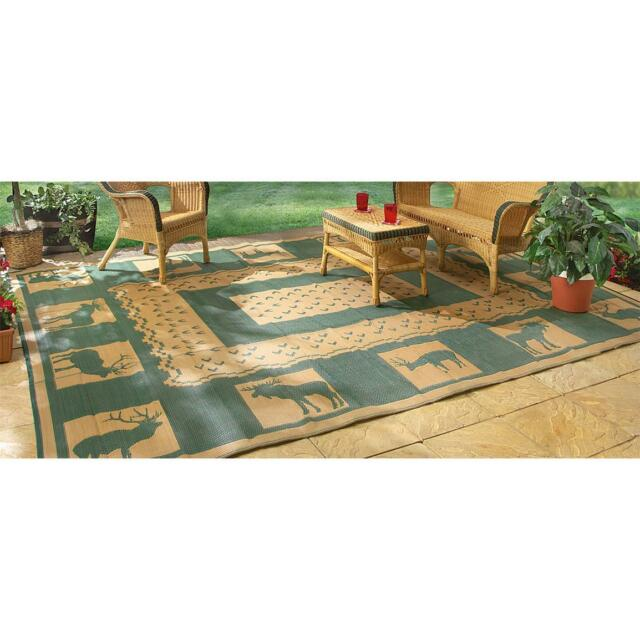 Rv Outdoor Green Rug 9x18 Indoor Patio Deck Camper Mat Reversible