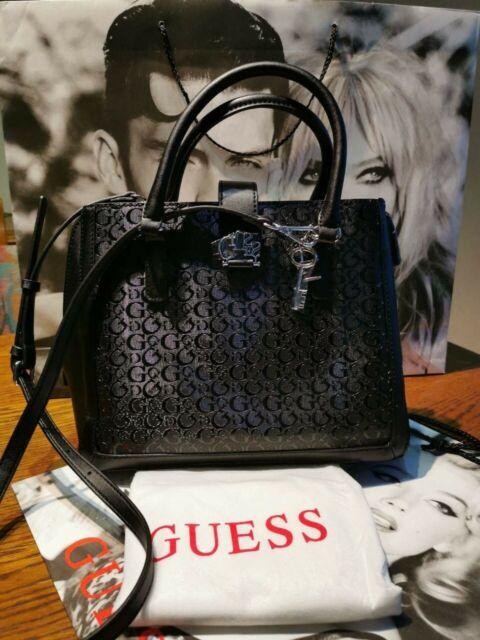GUESS Damen Taschen Handtaschen Umhängetasche schwarz Bag