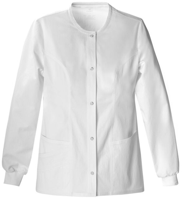 cherokee warm up scrub jacket Snap Front  # 4350 Royal Blue Missy Fit XSM-2XL