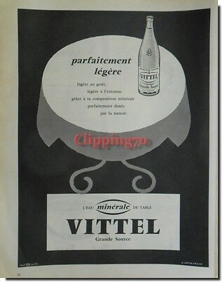 Vittel - Advertising Advertising 1959 Quality And Quantity Assured advertising Paper