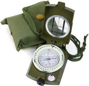 Sportneer Military Lensatic Sighting Camping Compass w/ Carrying Bag Waterproof