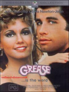 GREASE-John-TRAVOLTA-Olivia-NEWTON-JOHN-Romance-Musical-Film-DVD-Region-4
