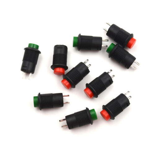 10Pcs 12mm Momentary OFF-ON Push Button Pushbutton Car Boat Lockless Switch  TS
