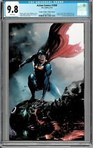 Action-Comics-1000-CGC-9-8-NM-Blazing-Eyes-a-039-Fire-Virgin-by-Francesco-Mattina