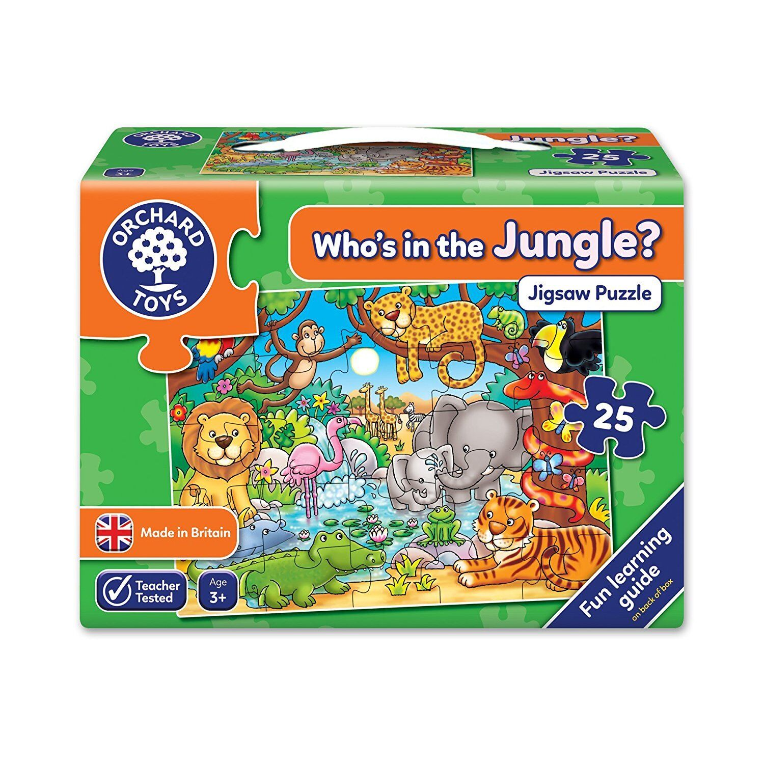 Orchard Toys - Who's In The Jungle Jigsaw Puzzle Game Board Game Kids