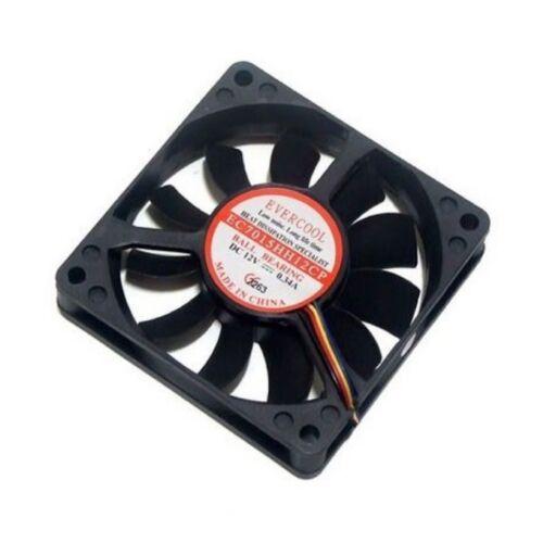 EVERCOOL PC Computer Case PWM Cooling Fan Cooler 4Pin 70mm 70x70x15mm