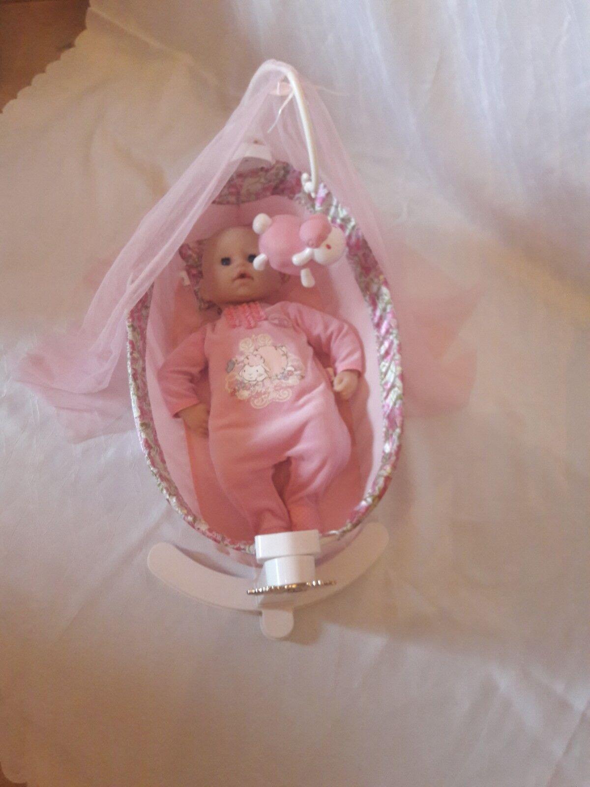 Zapf Creation 792865 Baby Annabell - Wiege und Nachtlicht und Puppe