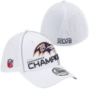 BALTIMORE-RAVENS-NFL-NEW-ERA-39THIRTY-2012-AFC-CHAMPIONS-CAP-HAT-SIZE-M-L-NEW