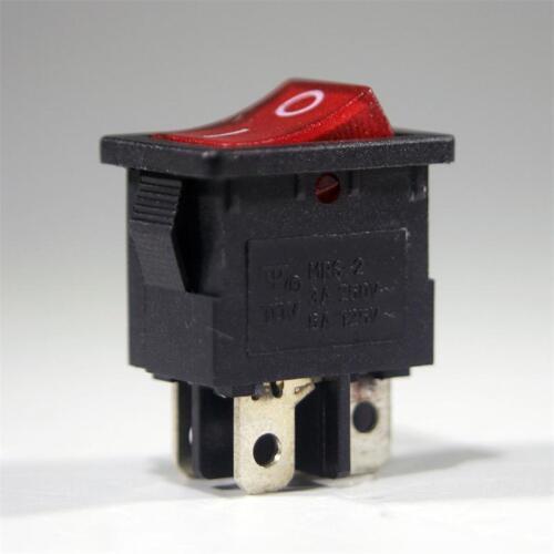 250v//3a interruptor interruptor schaltend Max Mini-wippenschalter rojo 2 pines