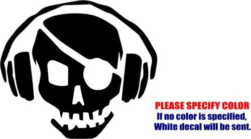 "Vinyl Decal Sticker Pirate Radio Headphones Car Truck Bumper Window JDM Fun 6/"""